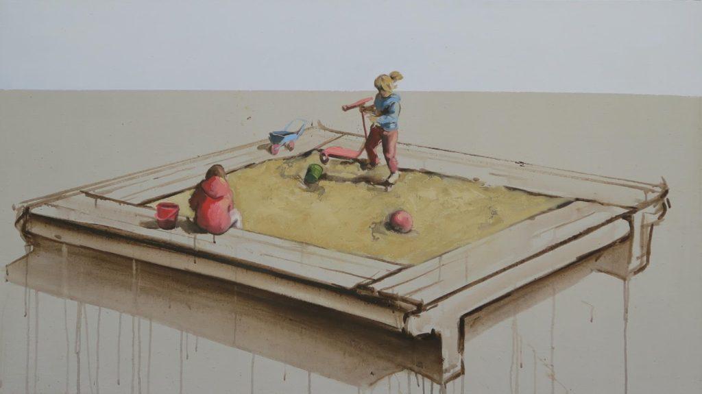 Aréna, 80x140 cm, olej na plátně, 42 000 Kč
