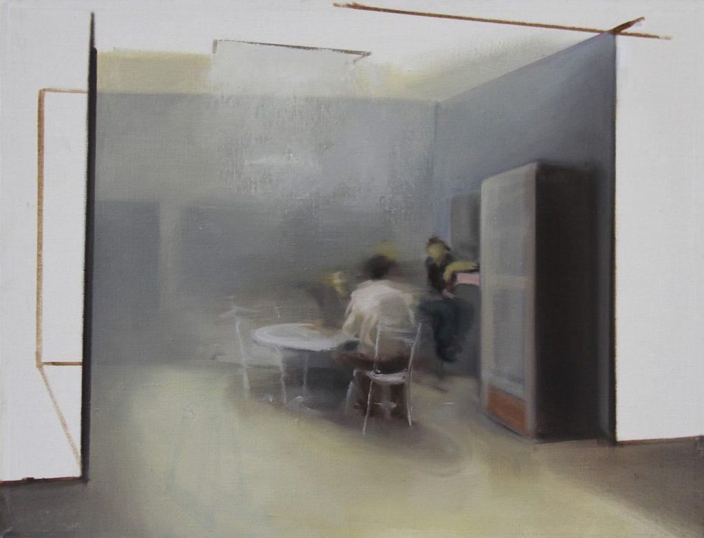 Zoltán Agócs, Divadlo Slovenska, 85x65 cm, olej na plátně, 35 200 Kč