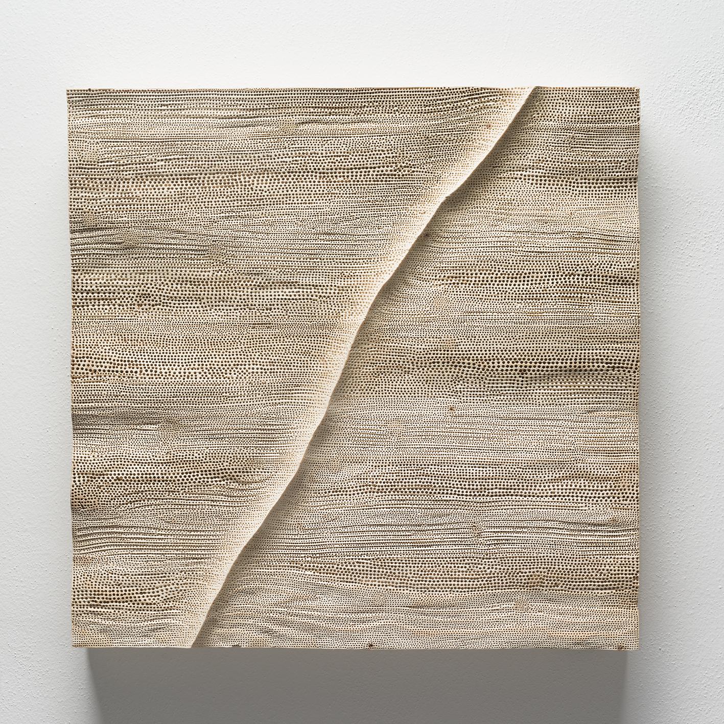 Hřbet, 62x62 cm, dřevo, prodáno