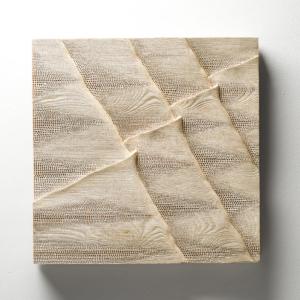 Cesta po úbočí, 62x62 cm, dřevo, prodáno