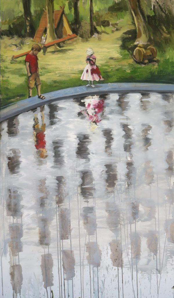 Jazierko 2, 90x155 cm, akryl a olej na plátně, 59 800 Kč