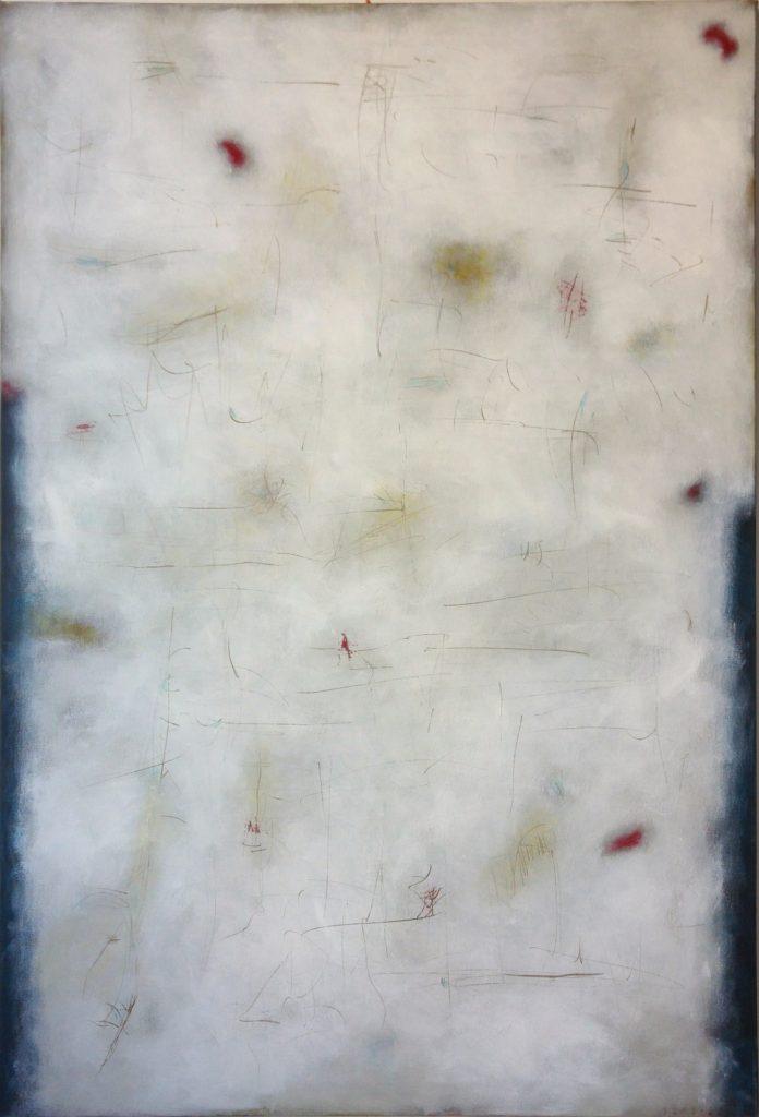 Plocha s černými okraji, 180x120cm, akryl na plátně, 91 000 Kč