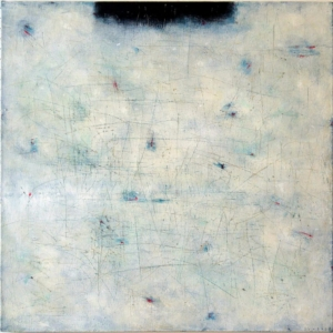 Jan Svoboda, Černý pruh, 80x80 cm, akryl na plátně, 39 000 Kč