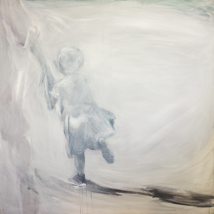 White, 100x100 cm, acrylic on canvas, 19 500 CZK (without VAT)