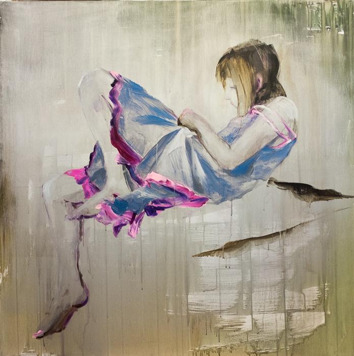 Elisabeth, 100x100 cm, acrylic on canvas, 26 000 CZK (without VAT)