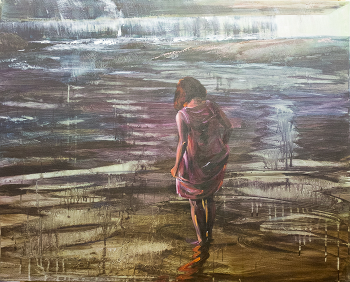 Under the riverbed, 80x100 cm, acrylic on canvas, 20 000 CZK (without VAT)