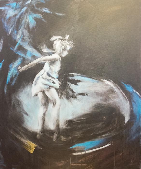 Trampoline, 120x100cm, acrylic on canvas, 26 000 CZK (without VAT)