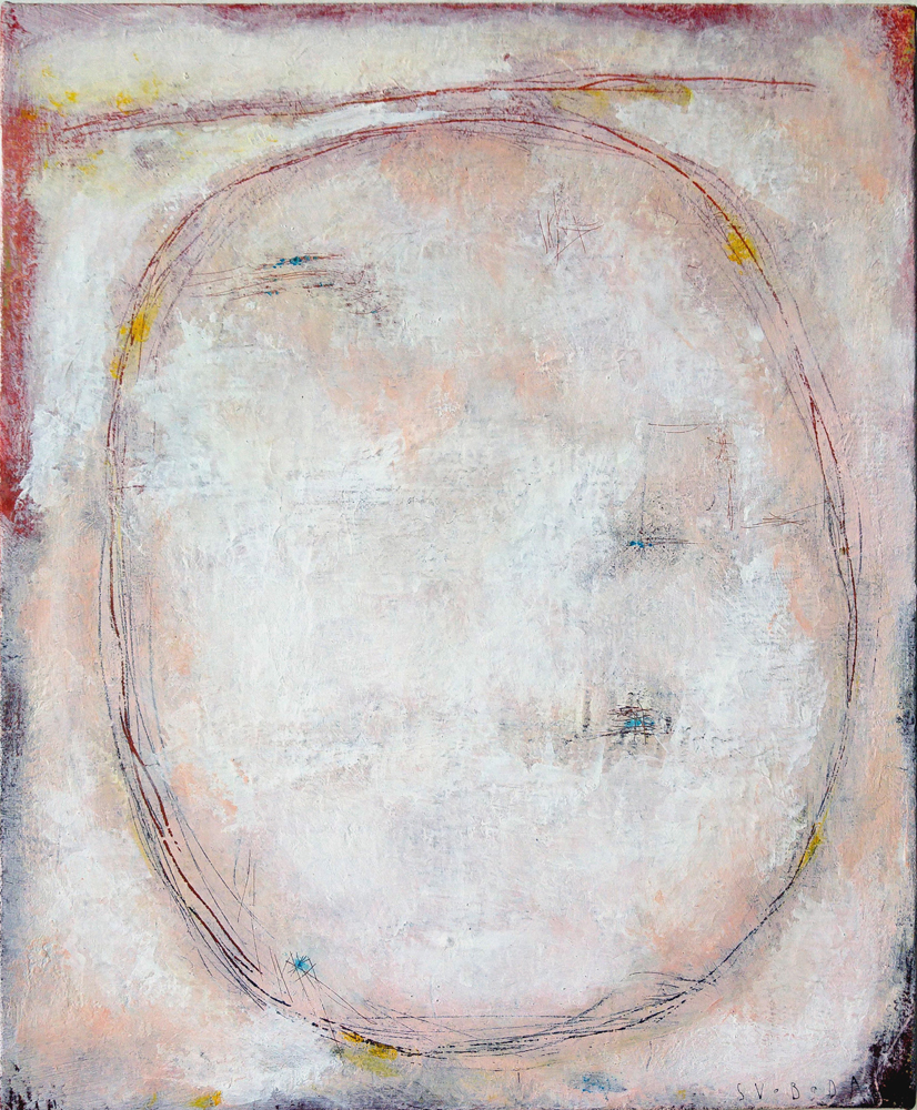 Oval, 55x45 cm, acrylic on canvas, 20 000 CZK (without VAT)