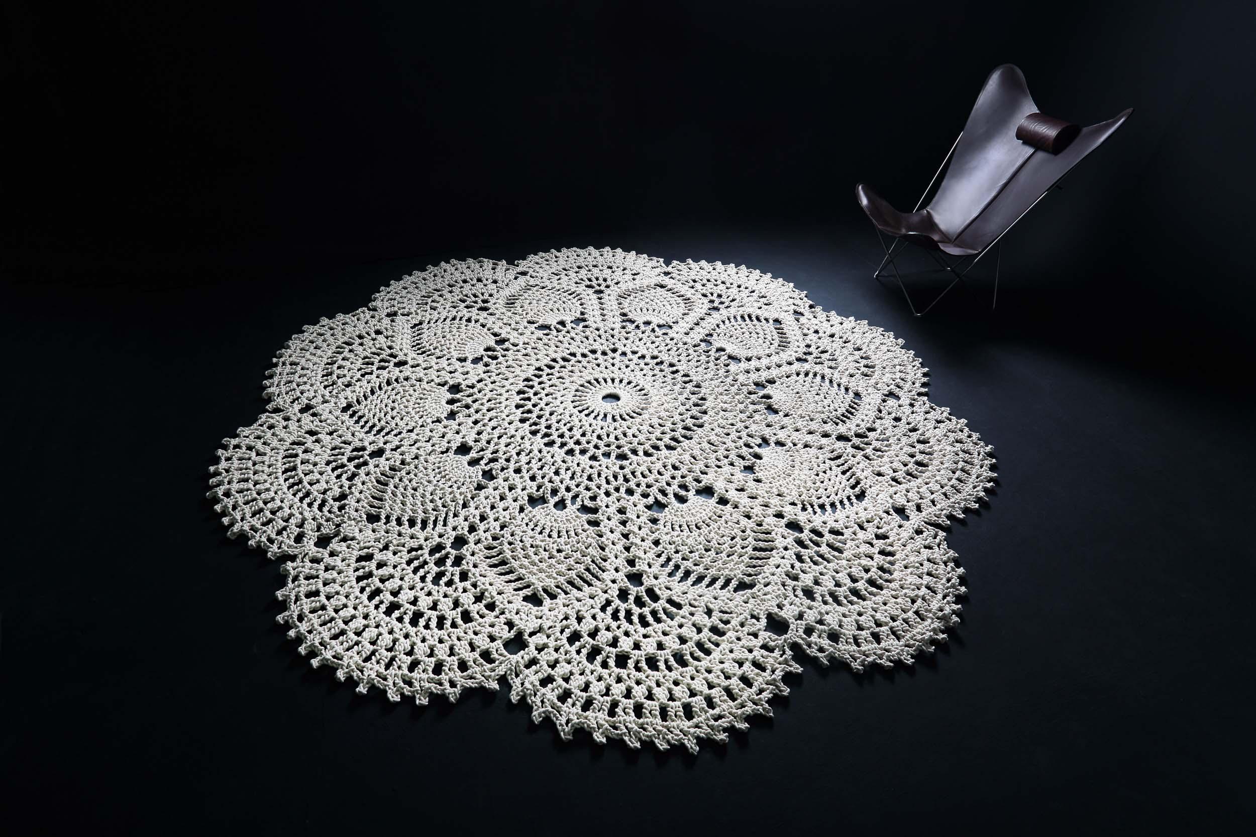 koberec Ananass, průměr 3 m, 100% bavlna
