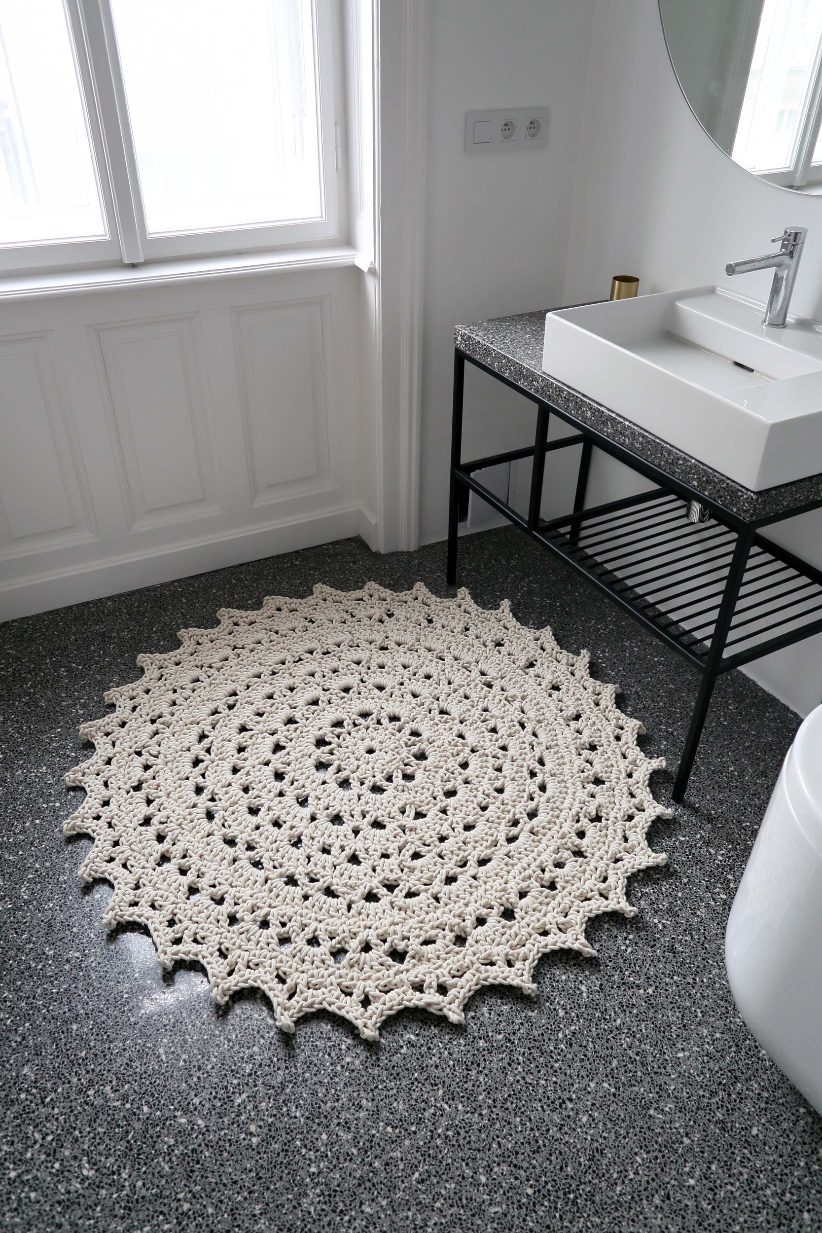 koberec Mandala, průměr 1,3 m, 100% bavlna