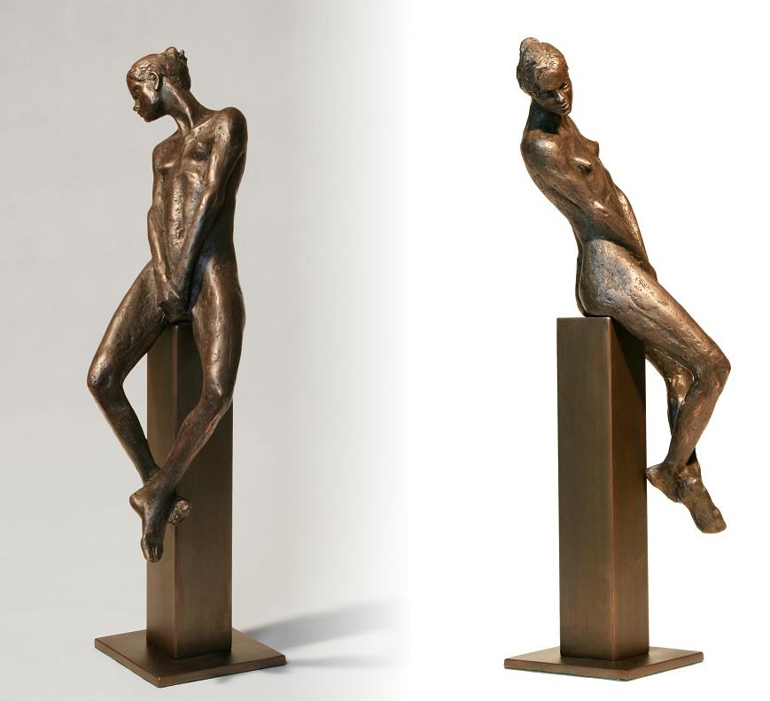 Na soklu, 2018, bronz, výška 57 cm, 60 000,- Kč (bez DPH)